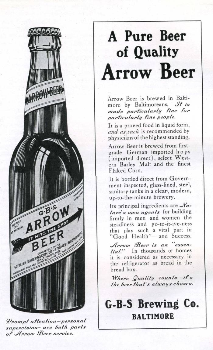 arrow beer health